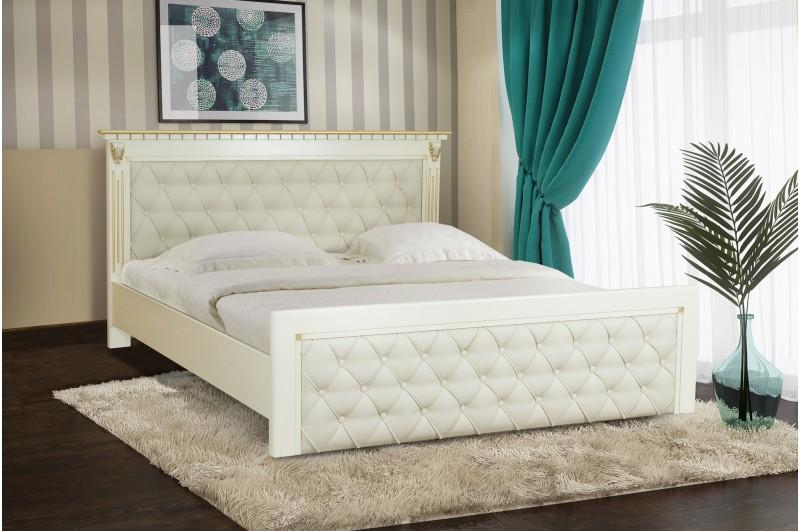 Кровать Ривьера (слон.кость+патина золото)