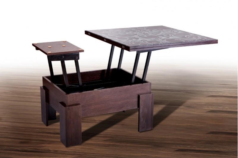 Стол-трансформер Дельта (стекло)