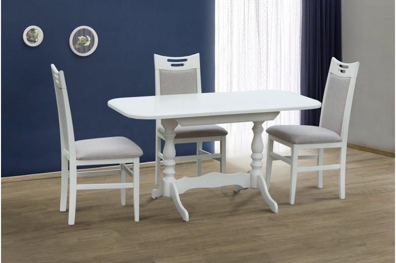 Стол обеденный Аврора ( белый, ваниль)