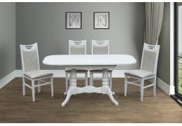 Стол обеденный Шервуд ( белый, слоновая кость)
