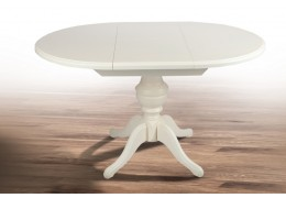 Стол обеденный Гермес (белый, ваниль)