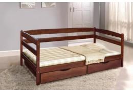 Кровать Ева тёмный орех (900мм.)