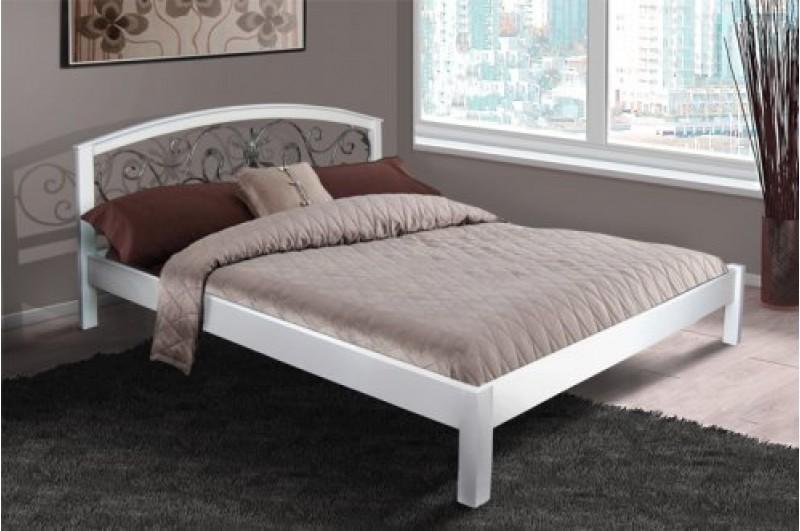 Кровать Джульетта (Ольха, белая) - 1,6м