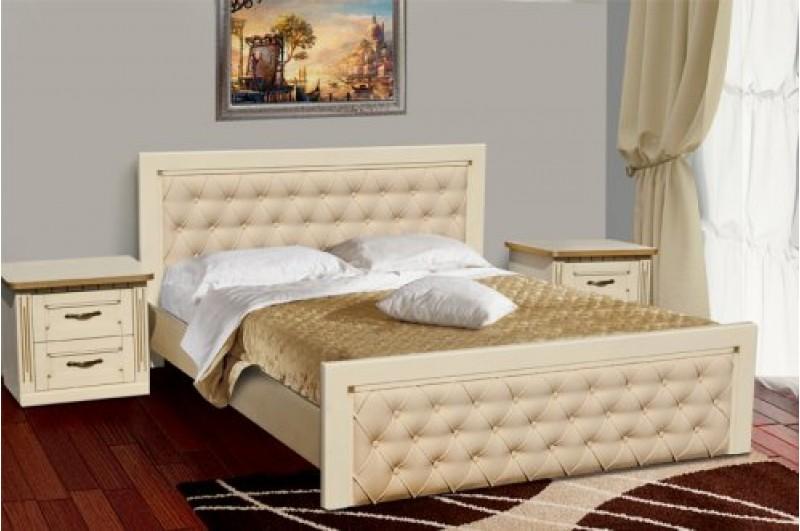 Кровать Freedom слон.кость + патина золото
